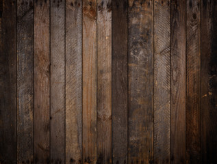 Dark rustic wooden planks background