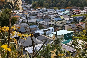 Japanese residential suburb in Kamakura