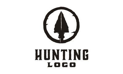 Hipster / Retro Hunting Logo Design Inspiration with arrowhead