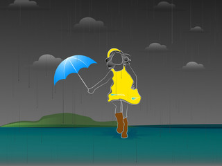nice and beautiful abstract for Rainy Season with nice and creative design illustration in a background.
