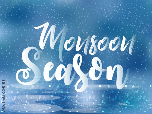 Nice And Beautiful Abstract Banner Or Poster For Monsoon Season