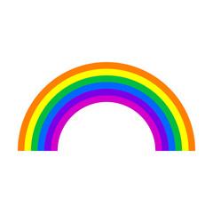 Colourfull Rainbow Icon.Vector illustration