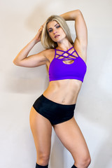 beautiful young athletic woman, fitness model