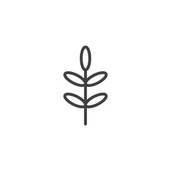 Acacia leaf outline icon. linear style sign for mobile concept and web design. Tree leaf simple line vector icon. Symbol, logo illustration. Pixel perfect vector graphics