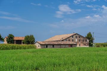 Rural landscape near Cortemaggiore, Italy