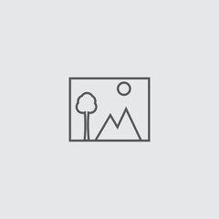 photo icon isolated on white background