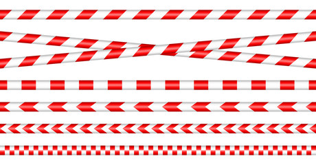 Set Of Barrier Tapes Red/White