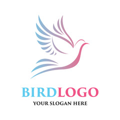 bird logo with text space for your slogan / tagline, vector illustration