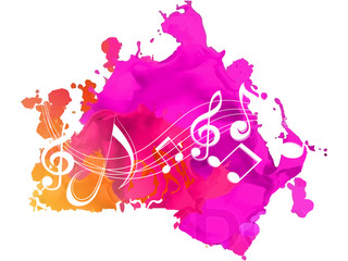 nice and beautiful abstract, banner or poster for Music or Music Day with nice and creative design illustration in a background.