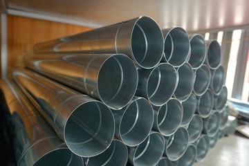 Galvanized steel Drainpipe in warehouse