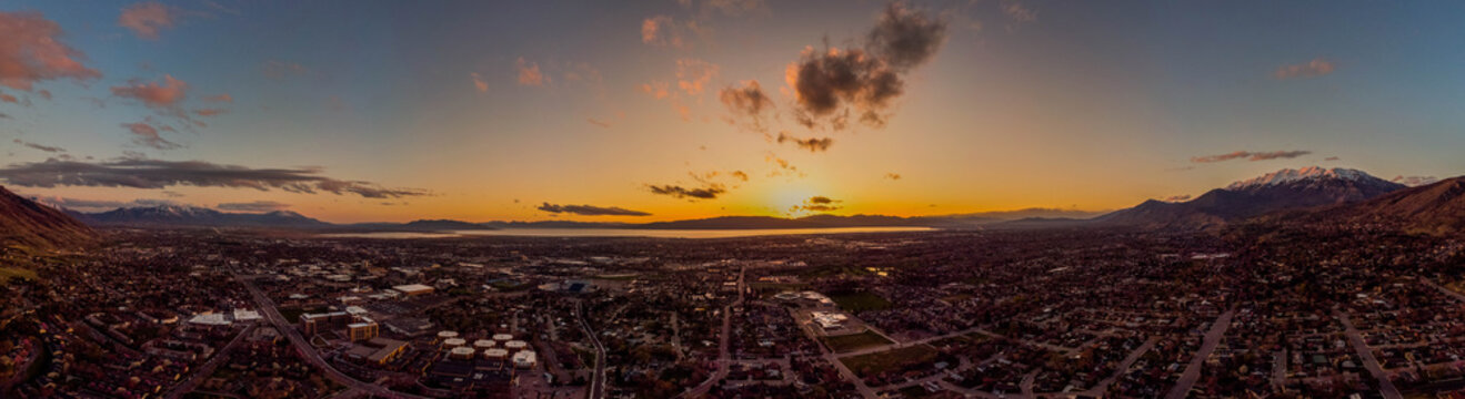 Utah Valley Sunset Panorama