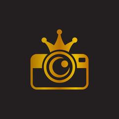 King Camera, Premium Photography, Elegant Photography Logo