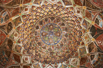 Fototapete - Ceiling in temple