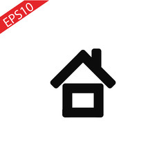 Home Icon vector. Simple flat symbol. Perfect Black pictogram illustration on white background.