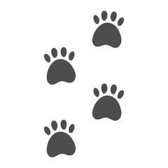 Wild animal paw print. Vector..