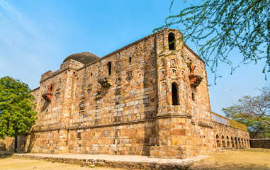 Jamali Kamali Mosque in Mehrauli Archaeological Park in Delhi, India