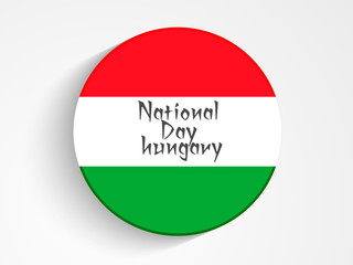 nice and beautiful abstarct or poster for National Day Hungary with nice and creative design illustration in a background.