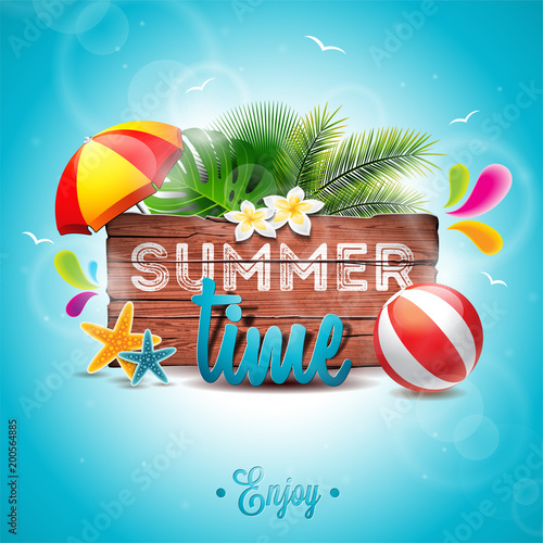 summer time party holidays invitation flyer poster sign beach sun