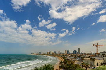 Panorama of Tel Aviv from old Jaffa