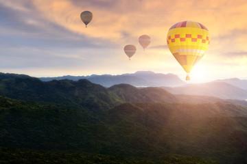 Colorful hot air balloon .