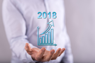 Concept of business growth in 2018