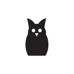 Owl iconisolated on white background