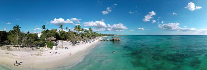Aerial panoramic view of La Romana, Dominican Republic