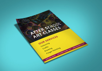 After School Art Class Flyer Layout