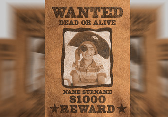 Western-Style Wanted Poster Layout