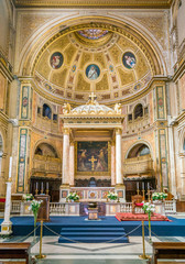 Basilica of Saint Lawrence in Damaso in Rome, Italy.