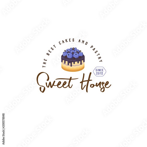 cakes and desserts logo cakes emblem bakery and cafe logo a