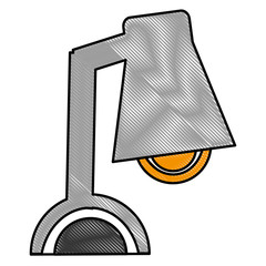 desk lamp device electronic image vector illustration