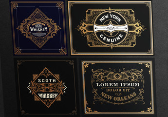 4 Vintage-Style Gold Label Layouts