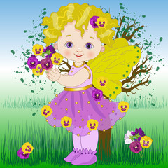 Flower fairy pansy
