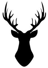 Vector Deer Head Silhouette