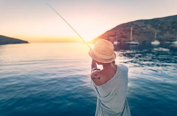 Fisherman woman