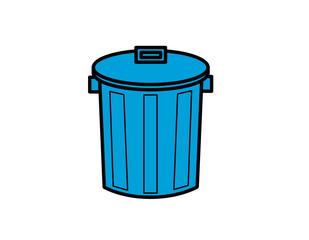 ゴミ箱(線画、模様)