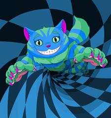 Fototapeten Marchenwelt Cheshire Cat Jumping