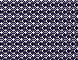 Honeycomb seamless pattern in navy blue. Vector background illustration. EPS file has global colors for easy color changes.