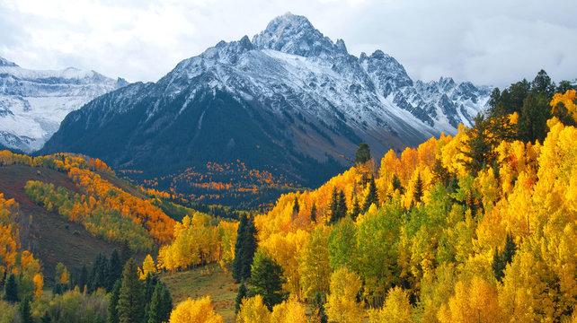 Mount Sneffels In Autumn