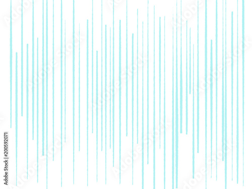Colorful Hand Drawn Bright Blue Lines As On White Background