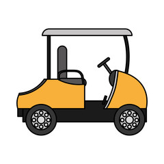 color recreational golf car to play the sport
