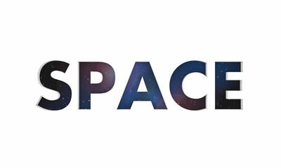 Space Galaxy Universe Stars Word 3d Illustration