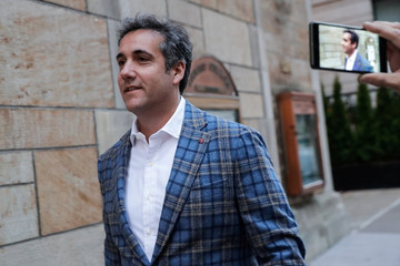 U.S. President Donald Trump's personal lawyer Michael Cohen exits a hotel in New York City
