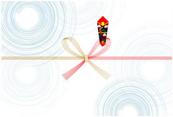 のし紙 夏 波紋 背景