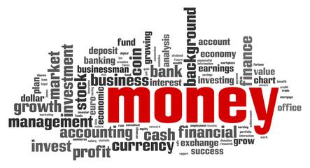 Money word cloud