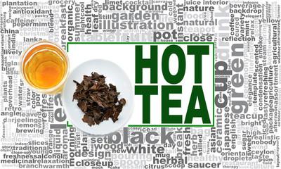 Hot tea word cloud