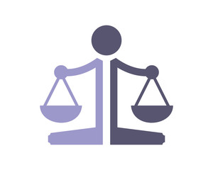 scales of justice equality law libra court judge image vector icon logo symbol