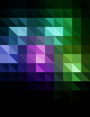 Shiny Abstract Triangles Background for Design - Vector Illustration