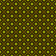 Seamless pattern in brown and green